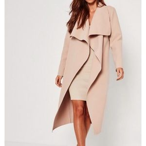 NWOT Missguided waterfall wool duster